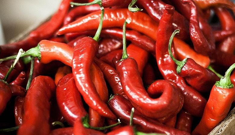 Piments rouge pour la Paella
